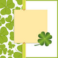 Saint Patrick's Day Postcard Stock Images