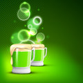 Saint Patrick's Day shiny green background Royalty Free Stock Images