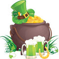 Saint Patrick's Day symbols Royalty Free Stock Images