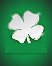 Saint patricks clover illustration design over a green background Stock Photos