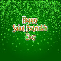 Saint Patricks Day background with raining green clover