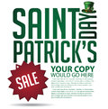 Saint patricks day sale ad template eps vector royalty free stock illustration Stock Photography