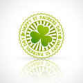 Saint patricks day stamp label Stock Photo