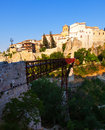 Saint paul bridge in cuenca pedestrian spain Stock Photography