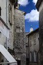 Saint paul de vence france street scene of the medieval village of Royalty Free Stock Image