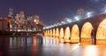 Saint Paul Minnesota Capital City Skyline Mississippi River Rams Royalty Free Stock Photo