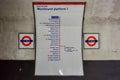 Saint Paul`s Underground Station - London Royalty Free Stock Photo