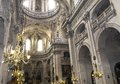 Saint paul saint louis church paris france interiors and architectural details of march in Royalty Free Stock Photos