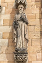 Saint Paul statue on the west front of Lichfield Cathedral Royalty Free Stock Photo