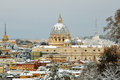 Saint peter basilica in winter season 2012 Royalty Free Stock Image