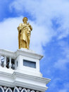 Saint peter on blue sky the church roof top with background in thailand Royalty Free Stock Photo
