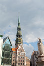 Saint peter church riga latvia in capital of Stock Photography
