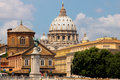 Saint Peter's Basilica in Vatican. Italy Royalty Free Stock Photo