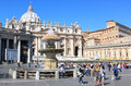 Fountain of Bernini at the Piazza San Pietro, Rome Royalty Free Stock Photo