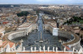 Saint Peter's Square. Rome. Italy. Royalty Free Stock Photo