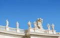 Saint peter sculptures s square on blue sky Stock Photography