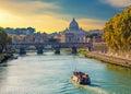 Saint Peters basilica view, Roma, Italy. Royalty Free Stock Photo