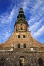 Saint Peters Church at Riga Old Town - Latvia Royalty Free Stock Photography