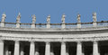 Saint peters square architectural detail at in rome italy Stock Photos