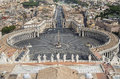 Saint peters square rome seen from st peter s basilica vatican italy Stock Images