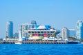 Saint Petersburg Florida skyline with pier Royalty Free Stock Photo