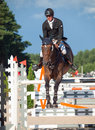 Saint petersburg july andis varna on never mind in the csi w csiyh international jumping grand prix fei world cup competition cm Stock Image