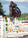 Saint petersburg july rider andrius petrovas on complimento in the csi w csiyh international jumping grand prix fei world cup Royalty Free Stock Images
