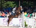 Saint petersburg july rider maxim kryna on klooney in csi w csiyh international jumping grand prix fei world cup competition cm Stock Photo