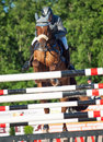 Saint petersburg july rider maxim kryna on klooney in csi w csiyh international jumping grand prix fei world cup competition cm Royalty Free Stock Image