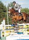 Saint petersburg july rider maxim kryna on klooney in csi w csiyh international jumping grand prix fei world cup competition cm Stock Image