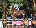 Saint petersburg july rider maxim kryna on klooney in csi w csiyh international jumping grand prix fei world cup competition cm Royalty Free Stock Photo