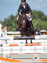 Saint petersburg july rider tiit kivisild on corsica the cs csi w csiyh international jumping grand prix fei world cup competition Royalty Free Stock Photo