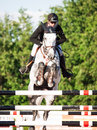 Saint petersburg july stasys andis varna on never mind in the csi w csiyh international jumping grand prix fei world cup Royalty Free Stock Photo
