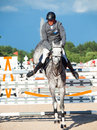Saint petersburg july stasys jasas on patrol v in the csi w csiyh international jumping grand prix fei world cup competition cm Royalty Free Stock Photography