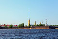 Saint petersburg landscape of peter and paul fortress in Royalty Free Stock Photo
