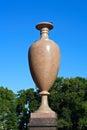 Saint petersburg porphyry vase in the summer garden alvdalen Stock Images