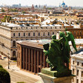 Saint petersburg russia bird eye view Royalty Free Stock Photo