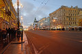 Saint Petersburg, Russia in the evening Royalty Free Stock Photo