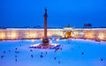 Saint-Petersburg. Russia. The Palace Square Royalty Free Stock Photo