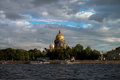 Saint petersburg st petersburg st isaac x s cathedral russia view at from neva river Stock Image