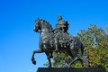 Saint petersburg the statue of peter i equestrian near mikhailovsky castle Royalty Free Stock Images