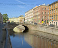 Saint petersburg stone bridge july on griboedov canal july in russia was built in Royalty Free Stock Photo
