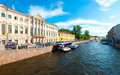Saint Petersburg water canals Royalty Free Stock Photo