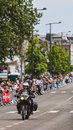 Saint quentin france july th official bike of journalists from the famous sports magazine l equipe passing few minutes before the Royalty Free Stock Photo