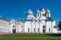 Saint sophia cathedral in kremlin of great novgorod russia Stock Image