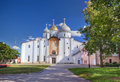 Saint sophia in novgorod the great veliky kremlin with cathedral russia Royalty Free Stock Images