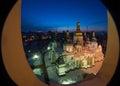 Saint Sophia's Cathedral view through window Royalty Free Stock Photo
