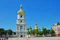 Saint sophias cathedral kiev ukraine the golden top in Royalty Free Stock Photos