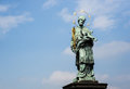 Saint statue in Prague Royalty Free Stock Photo