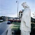 Saint statue protect bridge crossroads slovakia
